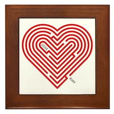 I Love Ruby Framed Tile