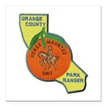 Orange County Mounted Ranger Square Car Magnet 3