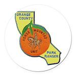 Orange County Mounted Ranger Round Car Magnet