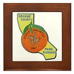 Orange County Mounted Ranger Framed Tile