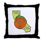 Orange County Mounted Ranger Throw Pillow