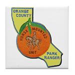 Orange County Mounted Ranger Tile Coaster