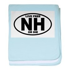 New Hampshire Live Free or Die baby blanket
