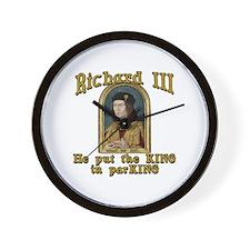 Richard III CarPark Humor Wall Clock