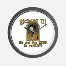 Richard III CarPark Humor Wall Clock