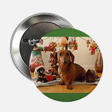 "Christmas Dachshund (Ver. 1) 2.25"" Button"