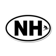 New Hampshire Winter Skiing Wall Decal
