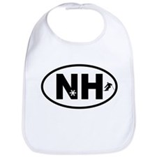 New Hampshire Winter Skiing and Snowflakes Bib
