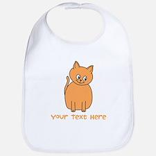 Orange Cat, Custom Text. Bib