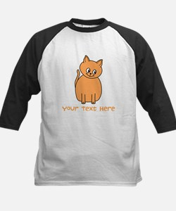 Orange Cat, Custom Text. Baseball Jersey