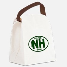 New Hampshire Live Free or Die Canvas Lunch Bag