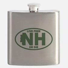 New Hampshire Live Free or Die Flask