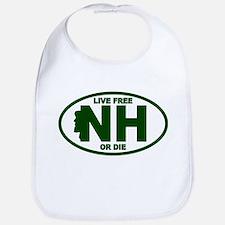 New Hampshire Live Free or Die Bib