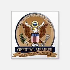 American Sarcasm Society Sticker