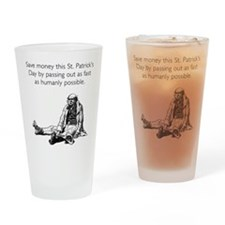 Save Money Drinking Glass