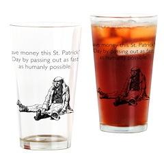 Save Money Drinking Glass