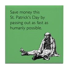 Save Money Tile Coaster
