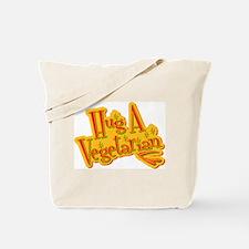 Retro Hug A Vegetarian Tote Bag