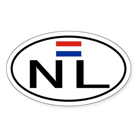 Netherlands Oval Sticker