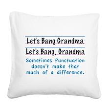 Punctuation Square Canvas Pillow