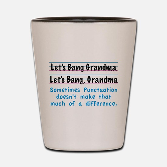 Punctuation Shot Glass