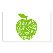 An apple a day keeps the doctor away Decal
