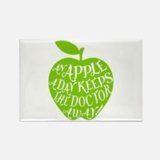 An apple a day keeps the doctor away Rectangle Mag