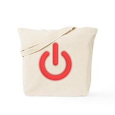 Power Symbol Off Tote Bag