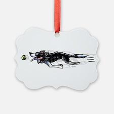 Border Collie Action Ornament