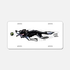 Border Collie Action Aluminum License Plate