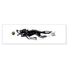 Border Collie Action Bumper Car Sticker