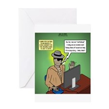 Invisible Man and Catfishing Greeting Card