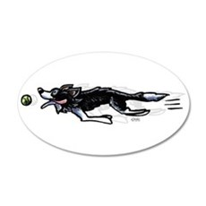Border Collie Action Wall Decal