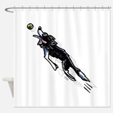 Border Collie Action Shower Curtain