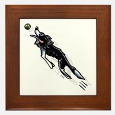 Border Collie Action Framed Tile