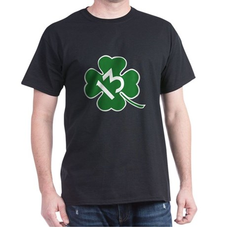 Lucky 13 shamrock Dark T-Shirt