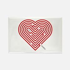 I Love Tameka Rectangle Magnet