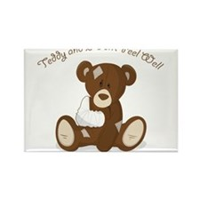 Cute Sick Teddy Infant Design Rectangle Magnet