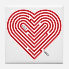 I Love Tania Tile Coaster