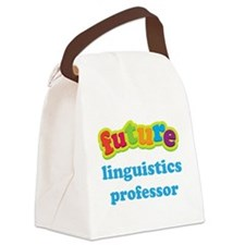 Future Linguistics Professor Canvas Lunch Bag