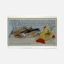 Hail Chickenfish Prayer Rectangle Magnet