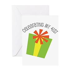 Celebrating My 41st Birthday Greeting Card