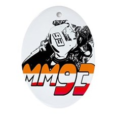 MM93bike Ornament (Oval)