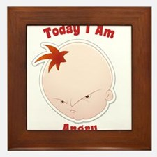 Today I am Angry Baby Infant Framed Tile
