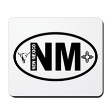 New Mexico Skull and Zia Mousepad