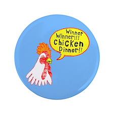 "Winner Chicken Dinner 3.5"" Button (100 pack)"