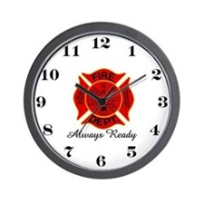 Always Ready FireFighter Wall Clock