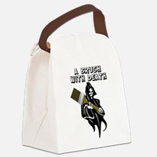 Brush with Death Canvas Lunch Bag