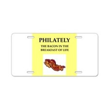 PHIlately Aluminum License Plate