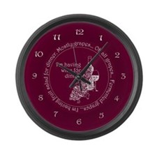 Wine For Dinner Large Wall Clock